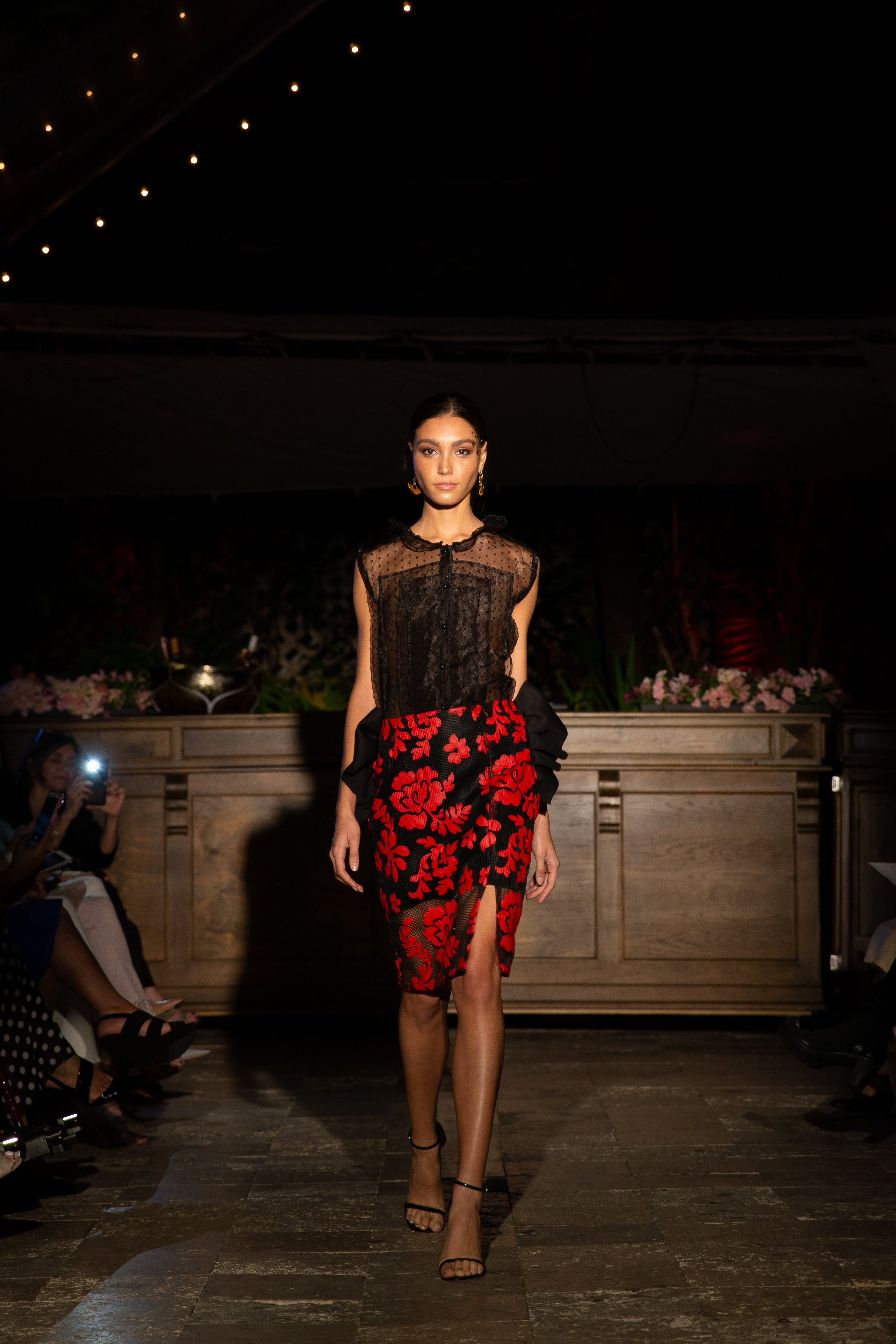 Red Lace Custom Skirt