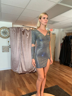 Short Inna metallic dress