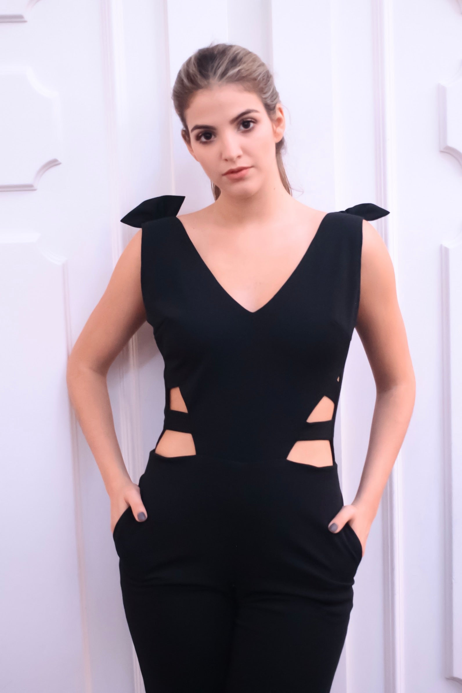 Elena Black Jumpsuit