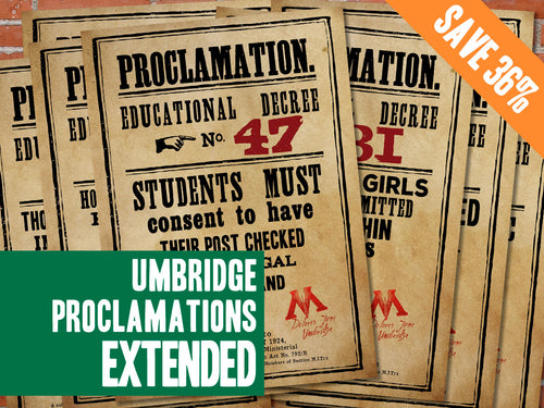 Umbridge Proclamation Posters - Extended