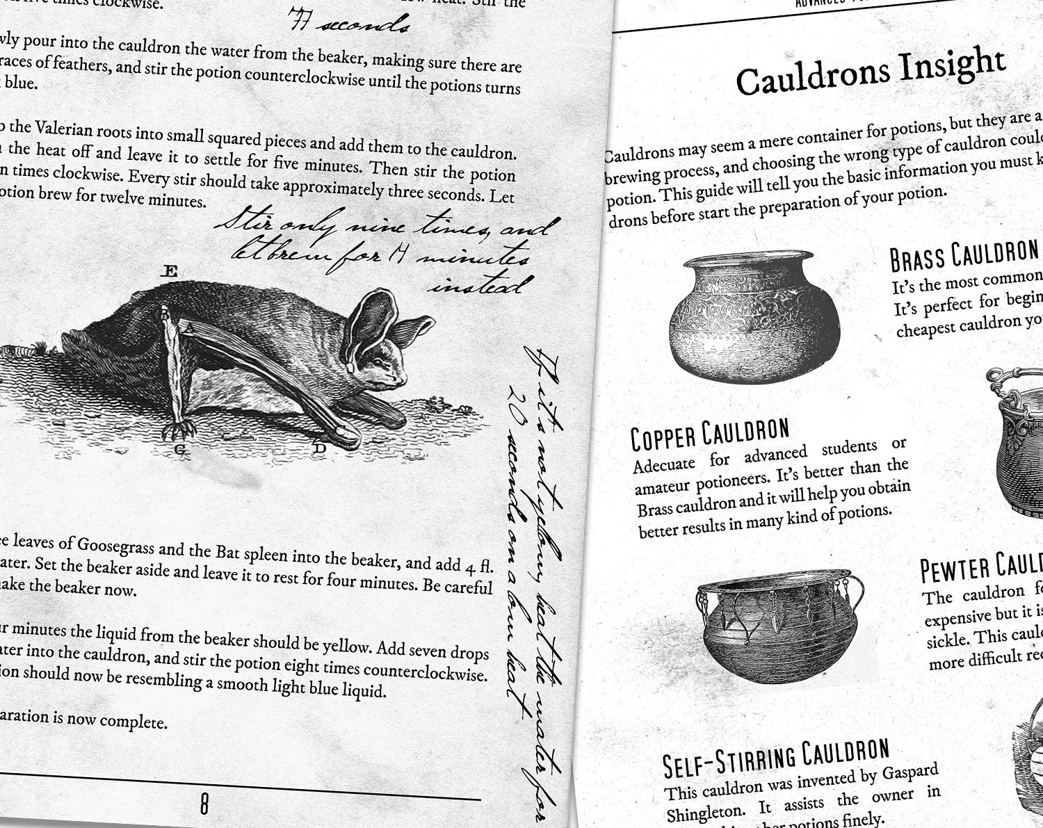 It is an image of Exceptional Advanced Potion Making Printable