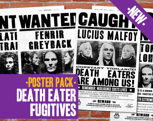 Death Eaters Wanted Poster Pack