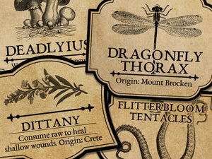 Potion & Ingredient Labels