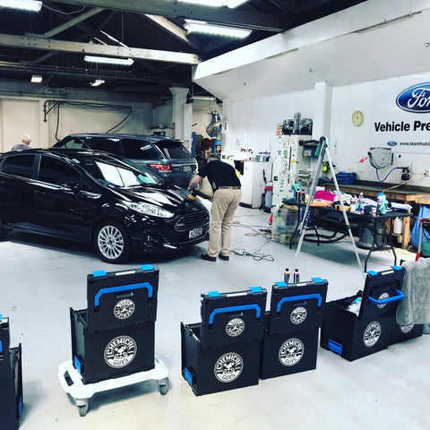 training at team hutchinson ford christchurch, detailing school with Prodi  chemcial guys importer and distributor for new zealand
