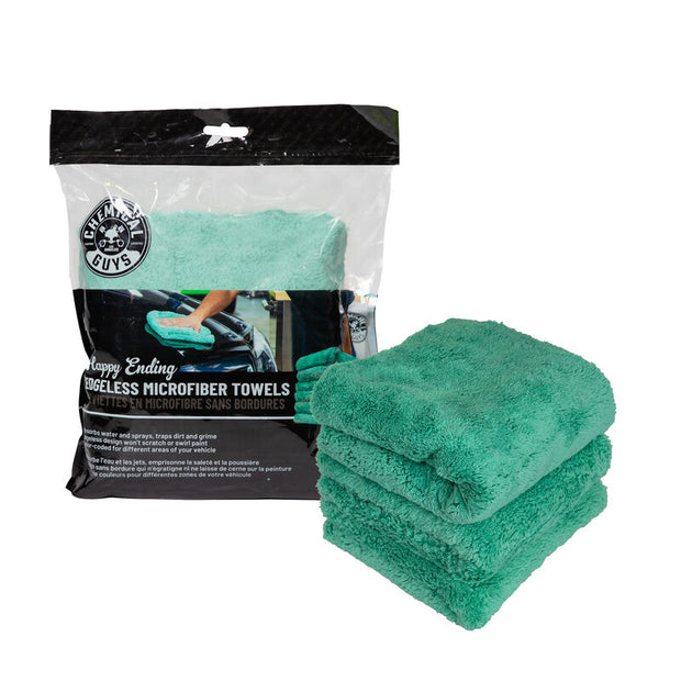 Happy Ending Edgeless Microfiber Towel Green- (3 Pack)