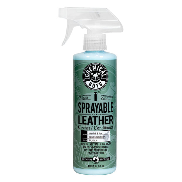 Sprayable Leather Conditioner & Cleaner In One Ph Balance w/ Vitamin E & Aloe (16 oz)