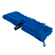 Chenille Wash Mop, Blue with Plastic Head Attachment
