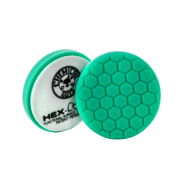 "Small 4"" Hex-Logic Pad Green Light Cut-Heavy Polish Minor Scratch & Swirl Remover Pad"