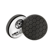 "Small 4"" Hex-Logic Pad Black Finishing Pad"