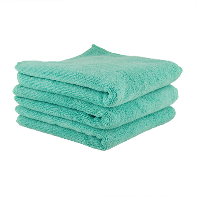 Workhorse Towel Professional Grade Microfiber Towels, Green (3 Pack)