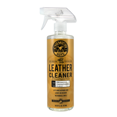 Leather Cleaner OEM Approved, Colorless & Odorless (16 oz)