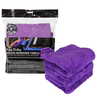 Happy Ending Edgeless Microfiber Towel Purple - (3 Pack)