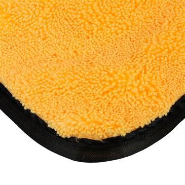 "Elite Microfiber Towel (16""X16"") Gold (3 Pack)-Gold w/ Black Microfiber Edges"
