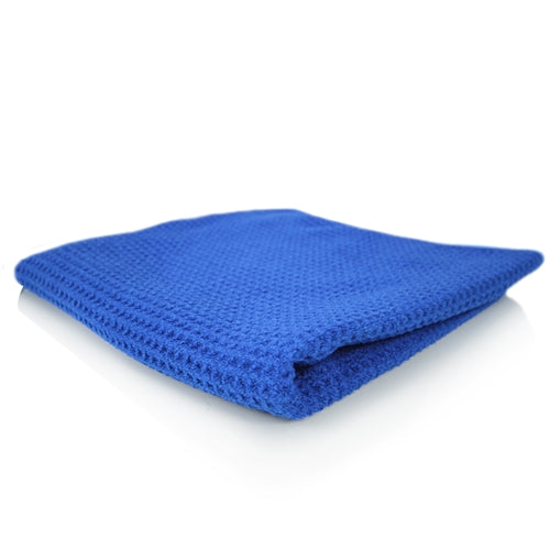 "Ultimate Glass And Window Waffle Weave Premium Microfiber Towel, Blue 24"" X 16"""