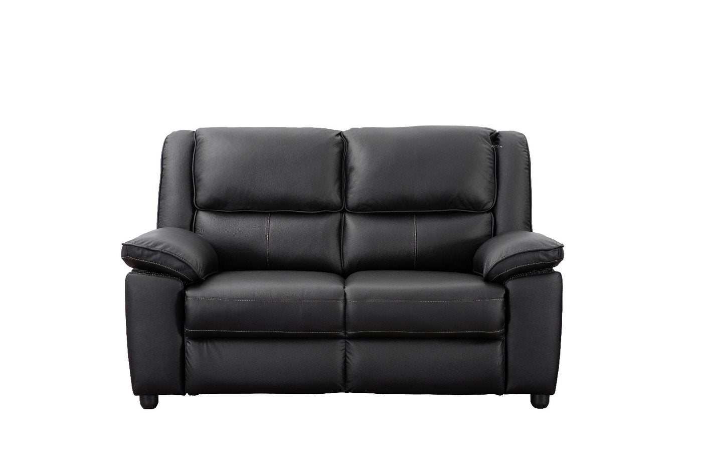 Paris 3 and 2 Seater Leather Sofa Set - Power Recliner | BLACK ...
