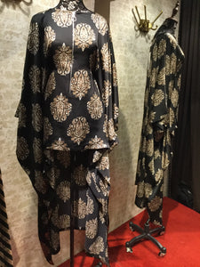 Hi-low Kaftan Printed