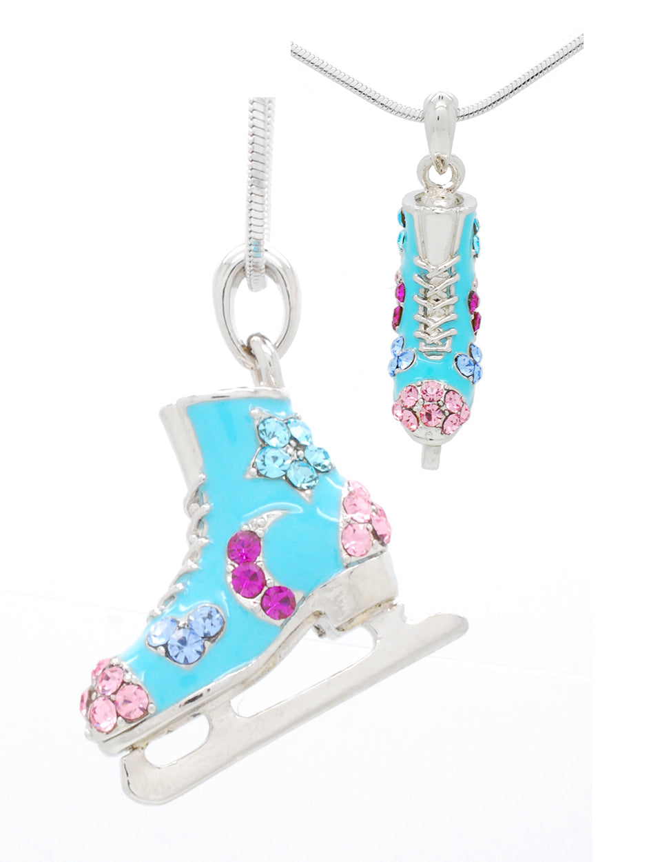 Deluxe Figure SKATE Necklace - Moons, Stars & Hearts - CHOOSE YOUR COLOR!