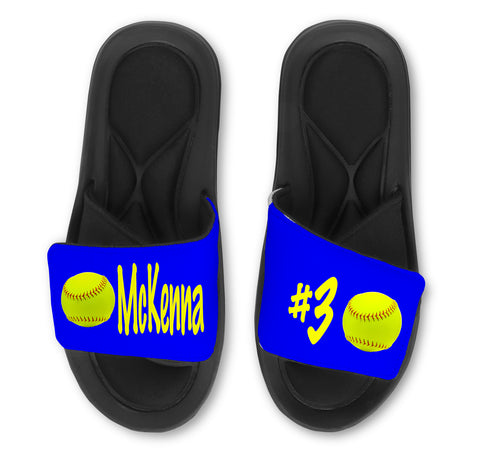 Softball Custom Slides / Sandals - Choose Your Colors