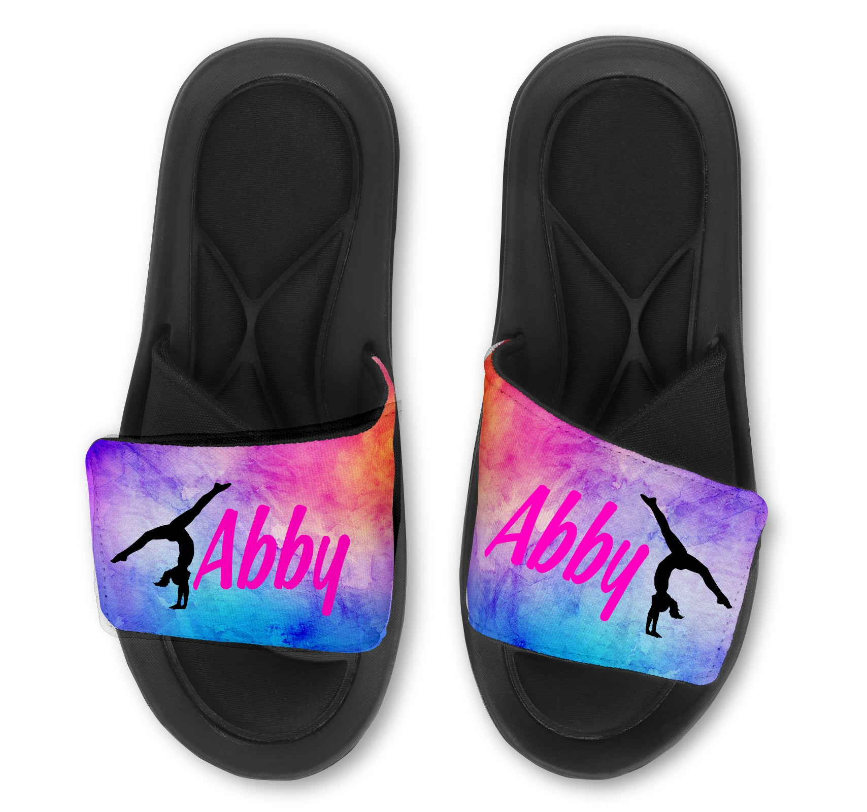 Handstand Custom Slides / Sandals - Watercolor