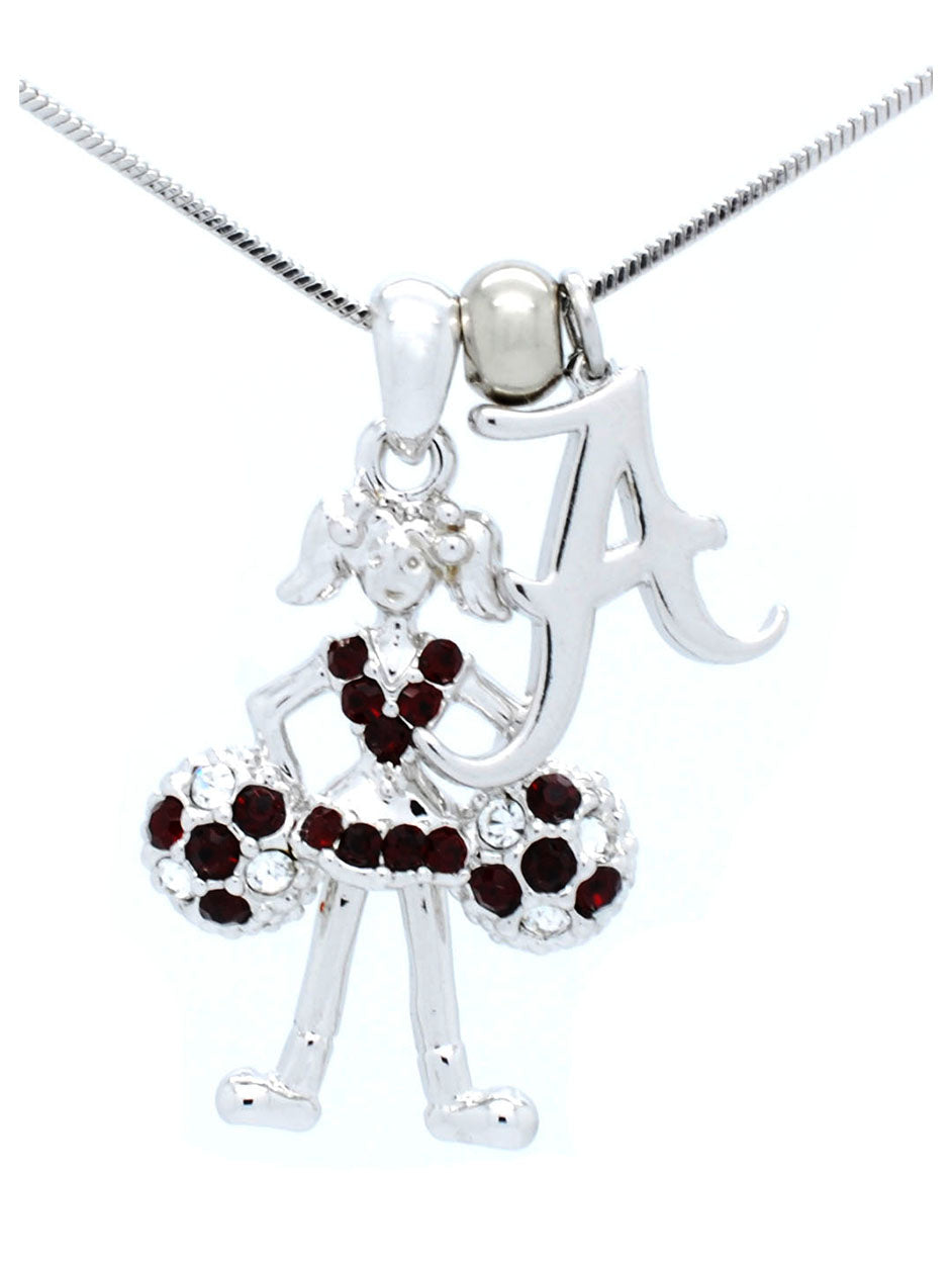Alabama Cheerleader Necklace - Poms Down