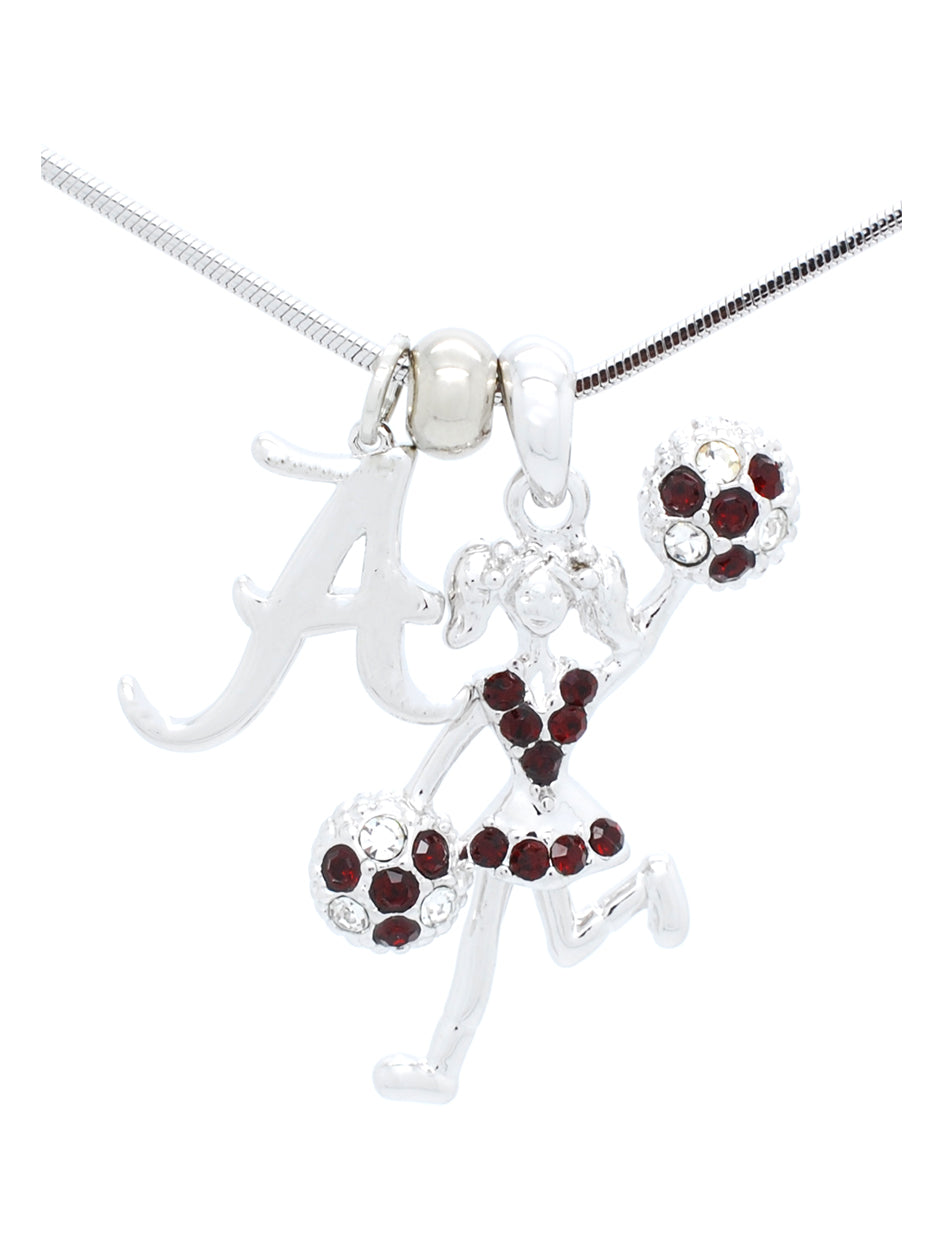 Alabama Cheerleader Necklace - Poms Half