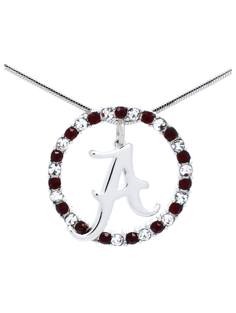 Alabama Crystal Circle Necklace