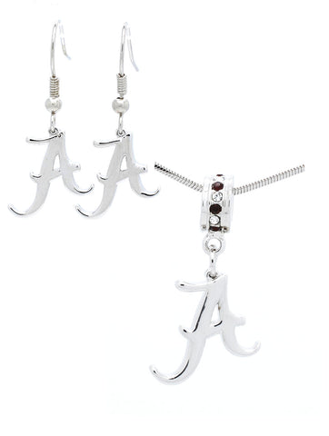 Alabama Logo Necklace & Earring Set