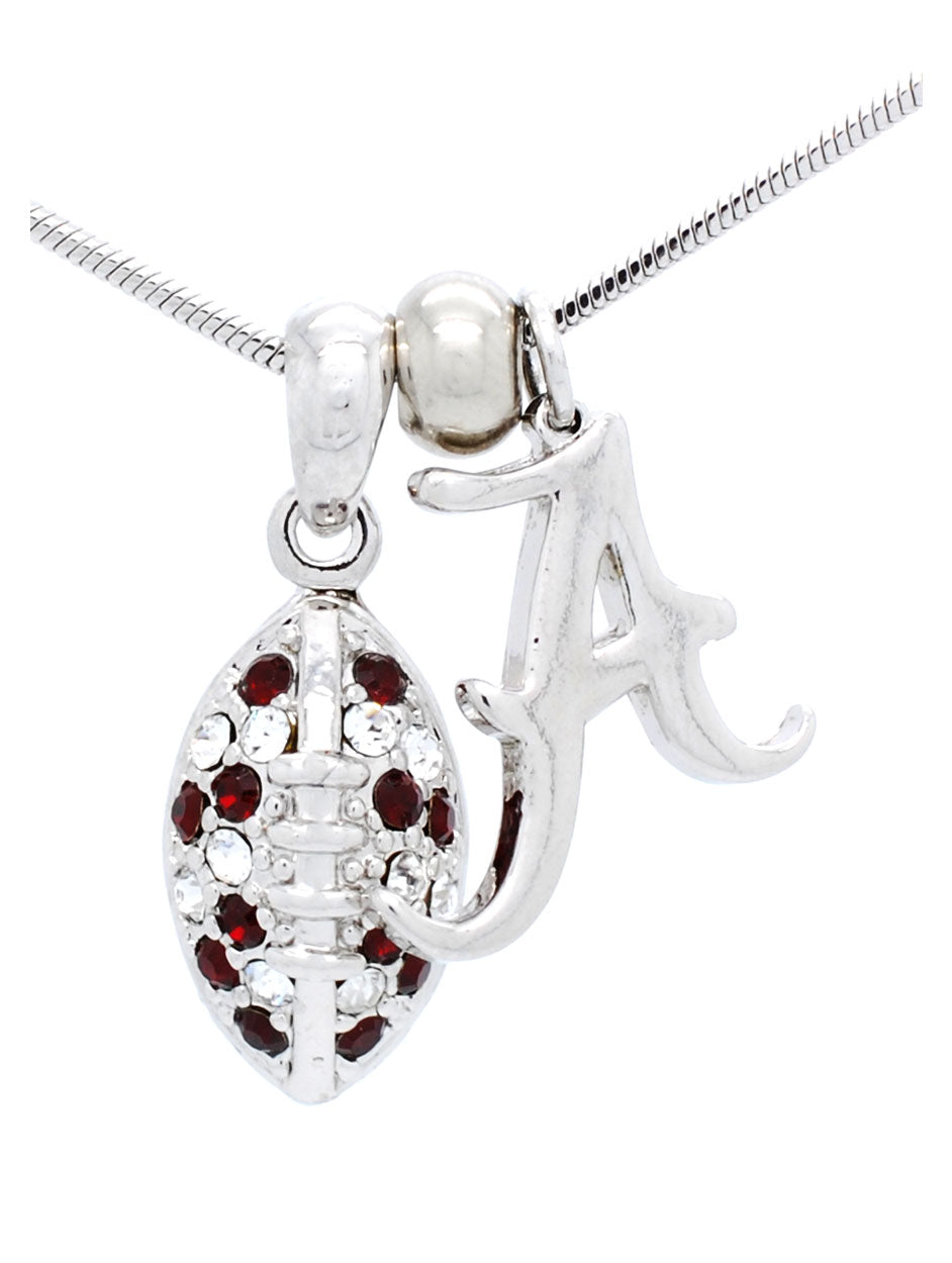 Alabama Mini Football Necklace