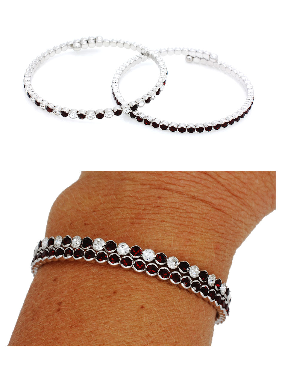 Deluxe Flex Bracelets - Crimson or Clear
