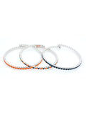 Deluxe Flex Bracelets - Navy/Navy-Orange/Orange