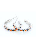 Hoop Earrings - Orange/Navy