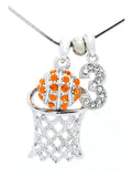 Basketball Hoop Necklace Lg - Single Digit