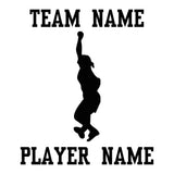 Custom Softball Fastpitch Car Window Decal - Pitcher