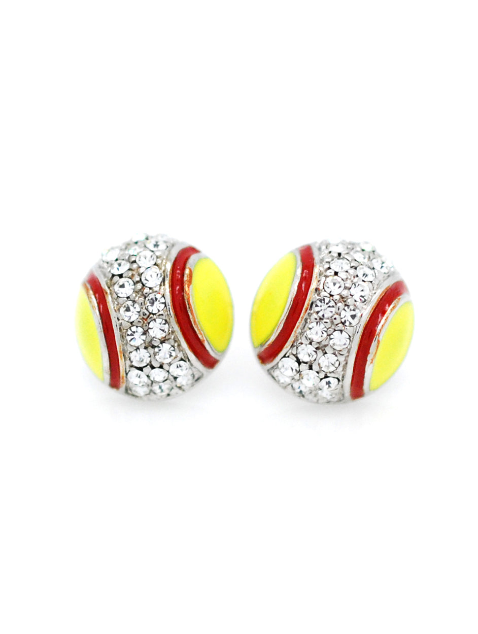 Softball/Fastpitch Enamel Earrings - POST