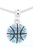 Basketball Crystal Necklace - Small