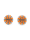 Basketball All Crystal Earrings - POST