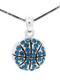 Basketball Crystal Necklace - Large