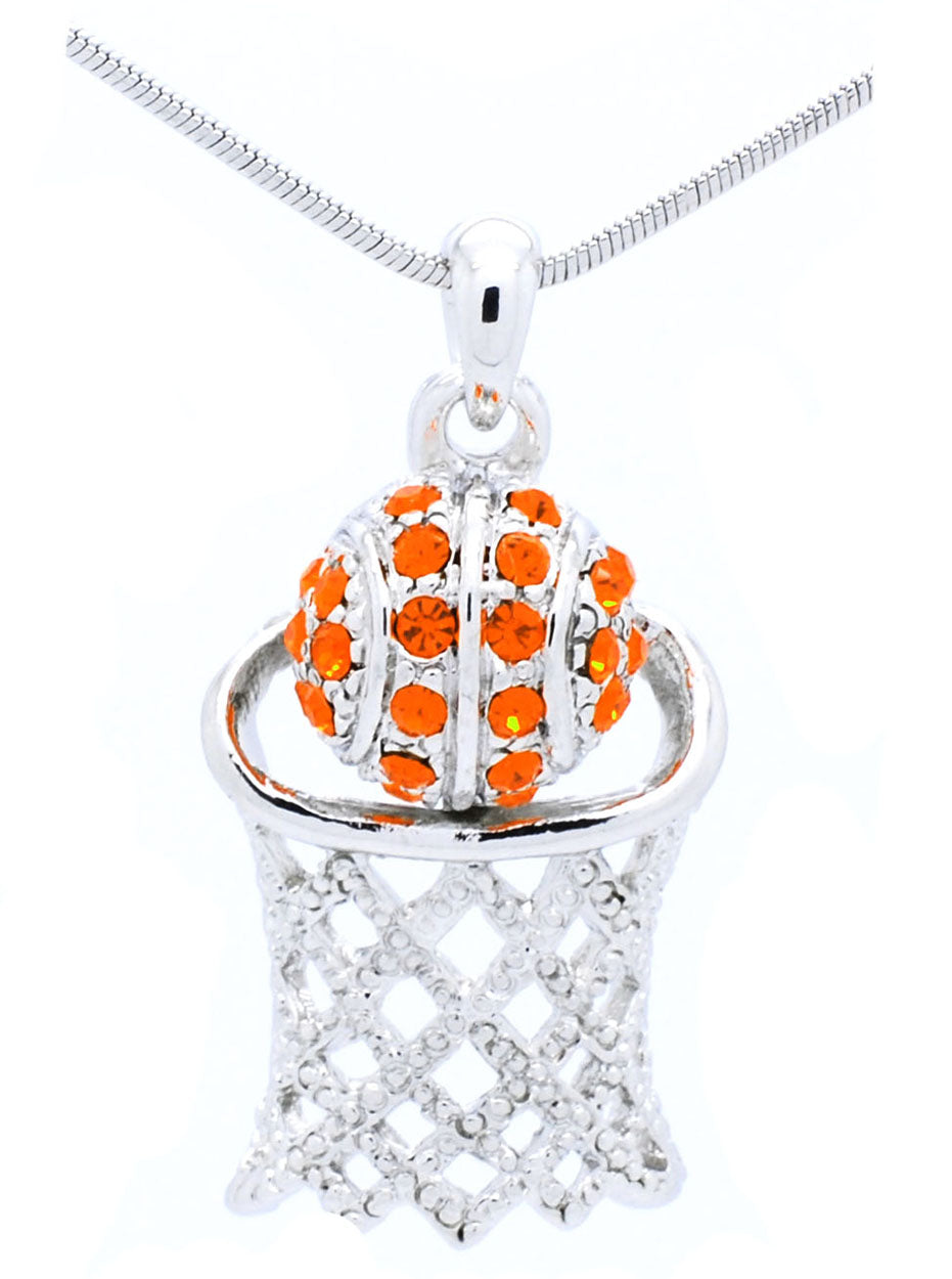 Basketball Hoop Necklace Large - Orange