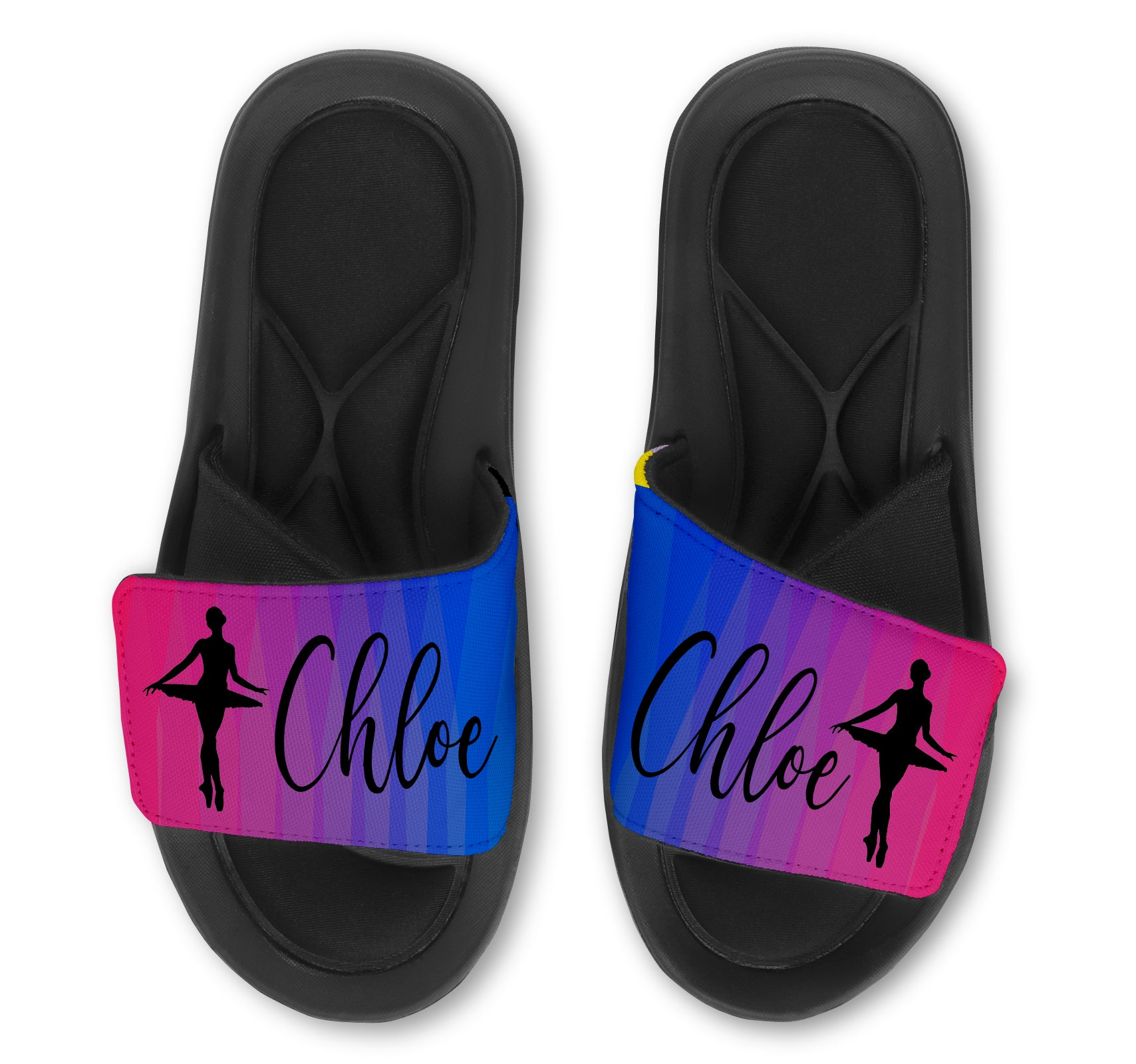 BALLERINA Abstract Custom Slides / Sandals - Choose your Background!