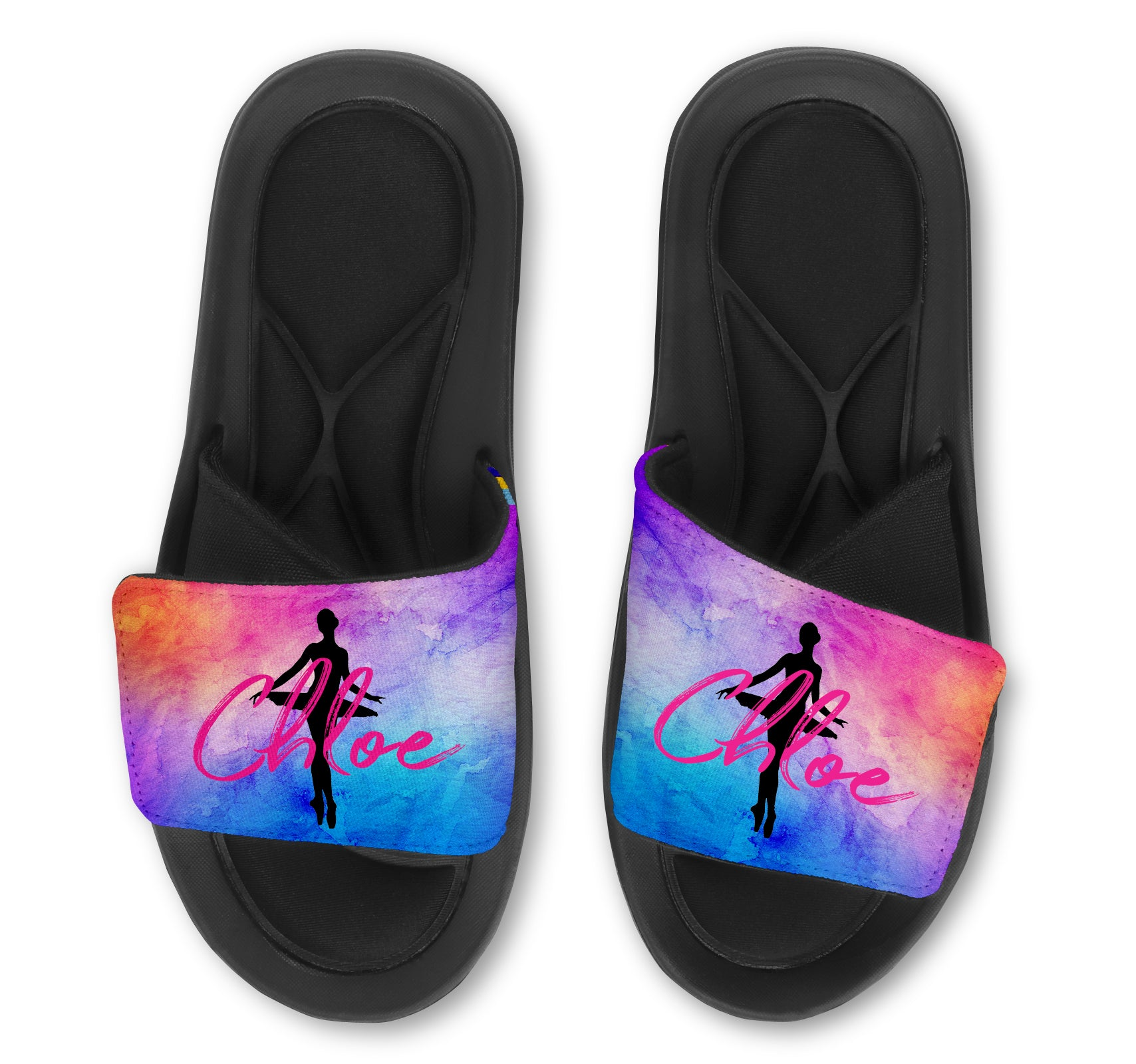 Ballerina Custom Slides / Sandals - Watercolor
