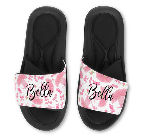 Ballet Tutu Slides - Customize with Your Name