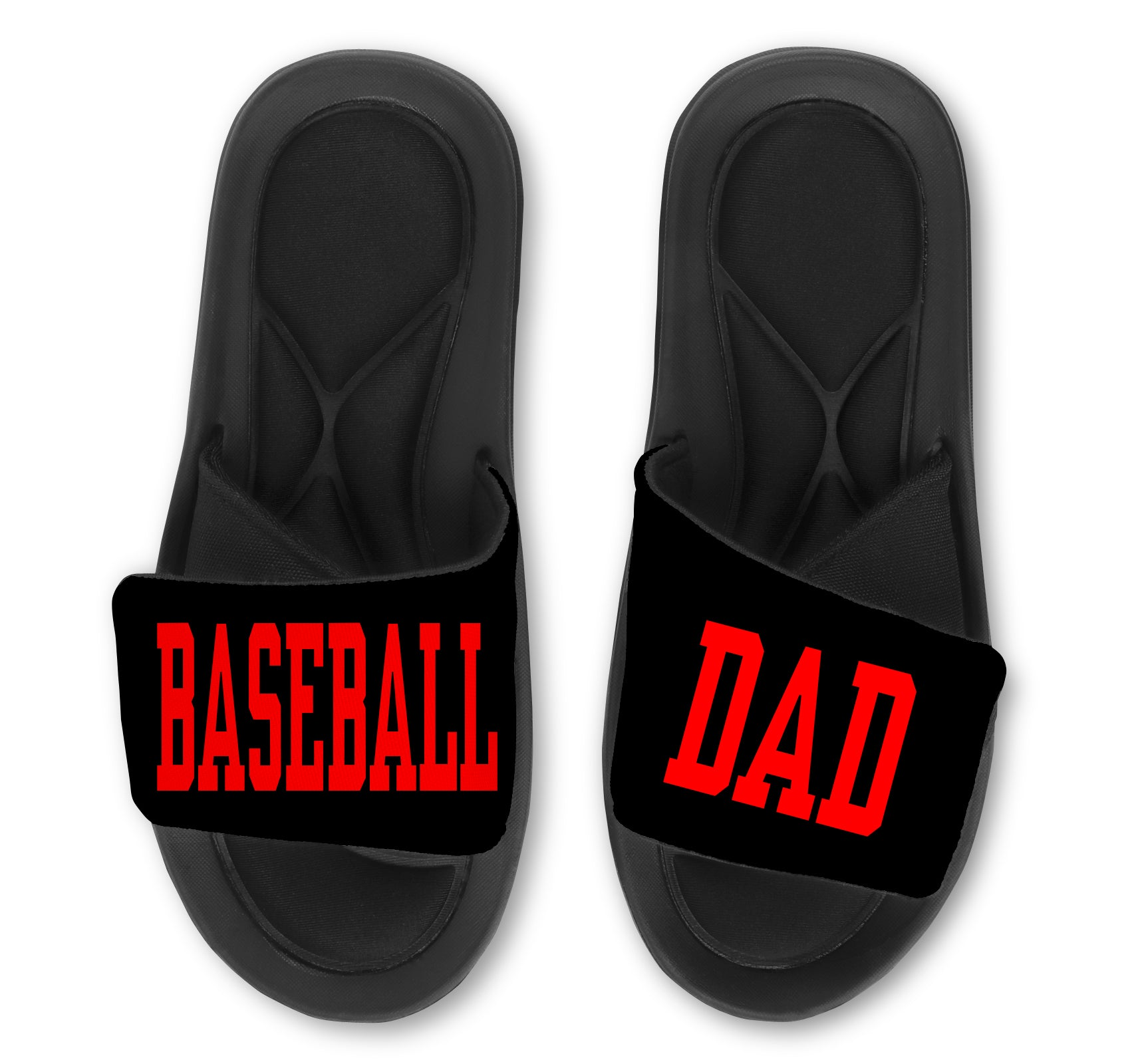 Baseball DAD Custom Slides / Sandals - Choose Your Colors