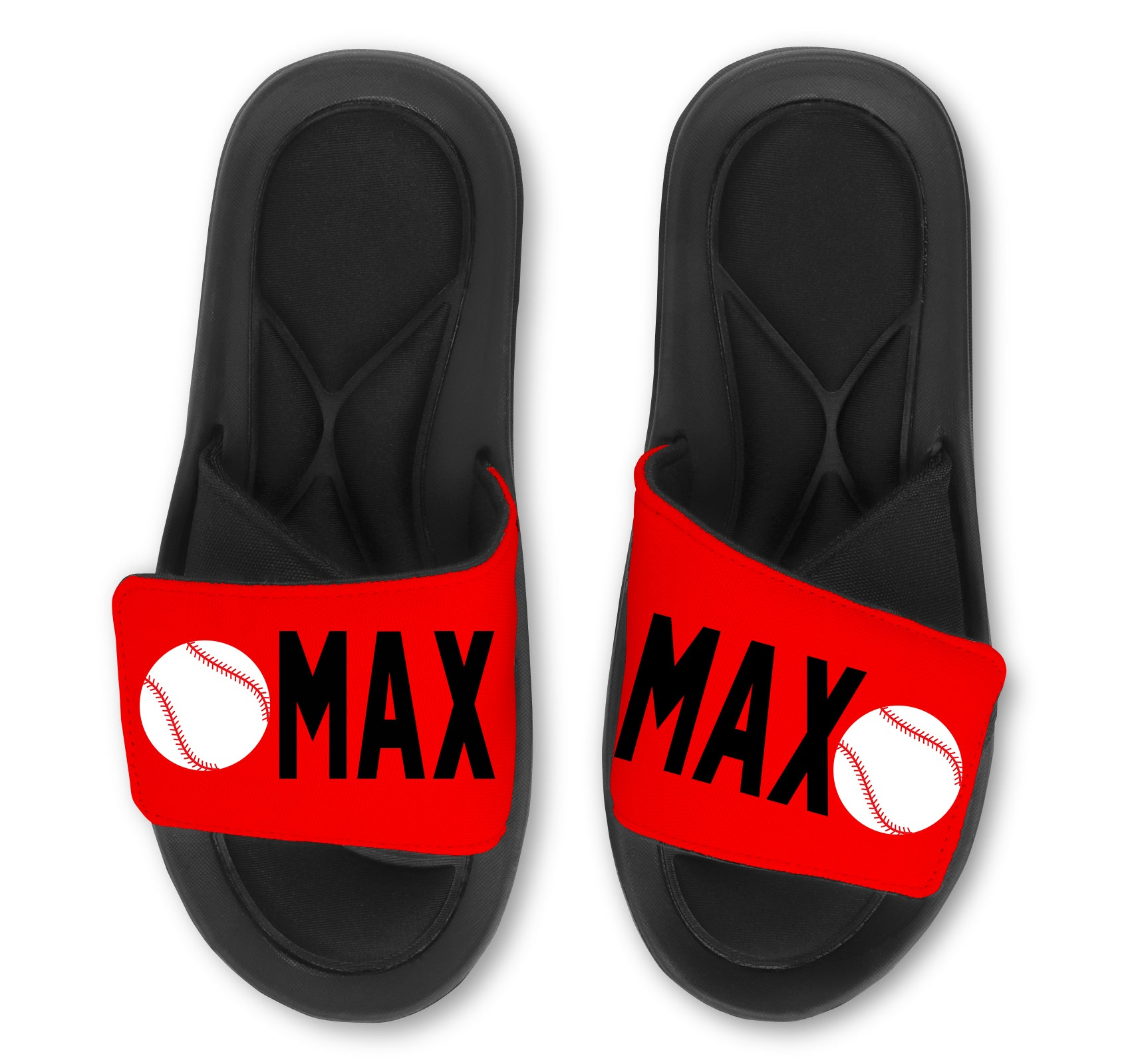 Baseball Slides (Single Baseball) - Customize with Your Name & Number
