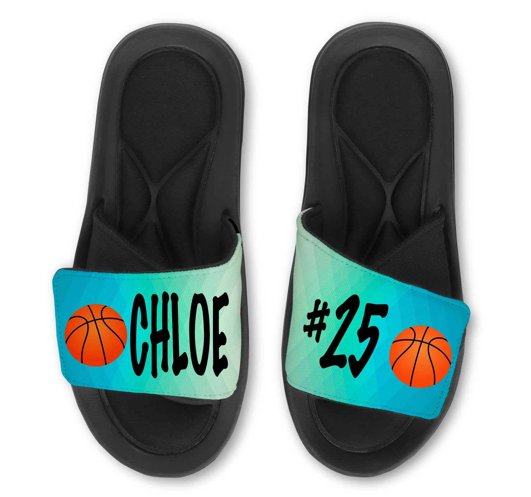 Basketball Abstract Custom Slides / Sandals - Choose your Background!