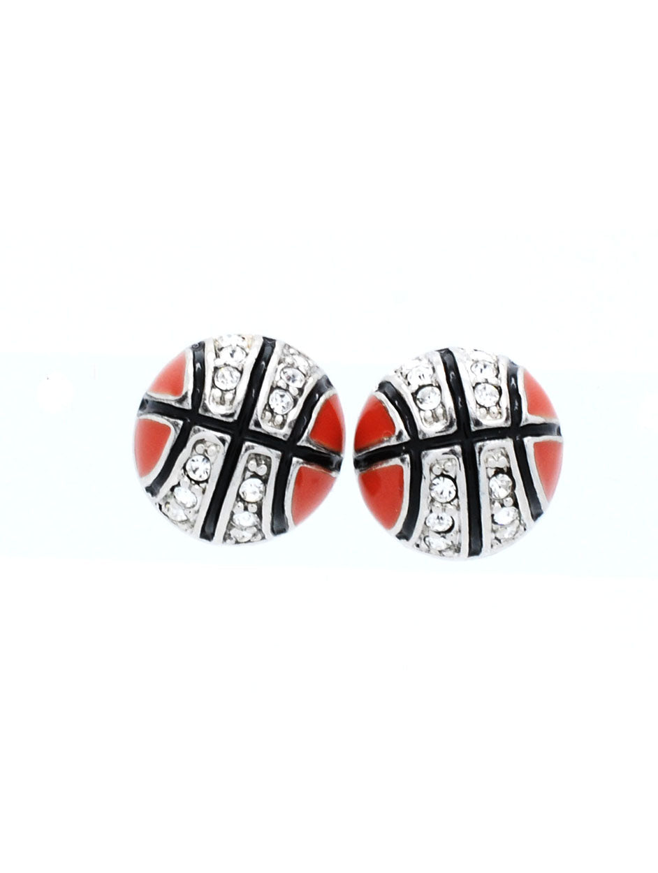 Enamel Basketball POST Earrings