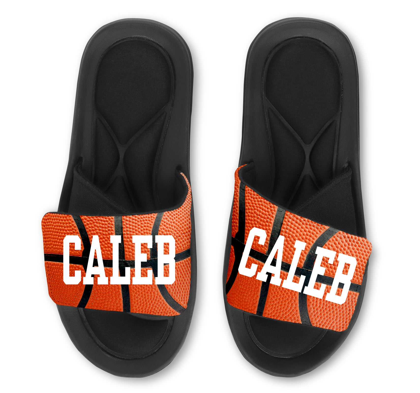 BASKETBALL Slides - Customize with Your Name and/or Number