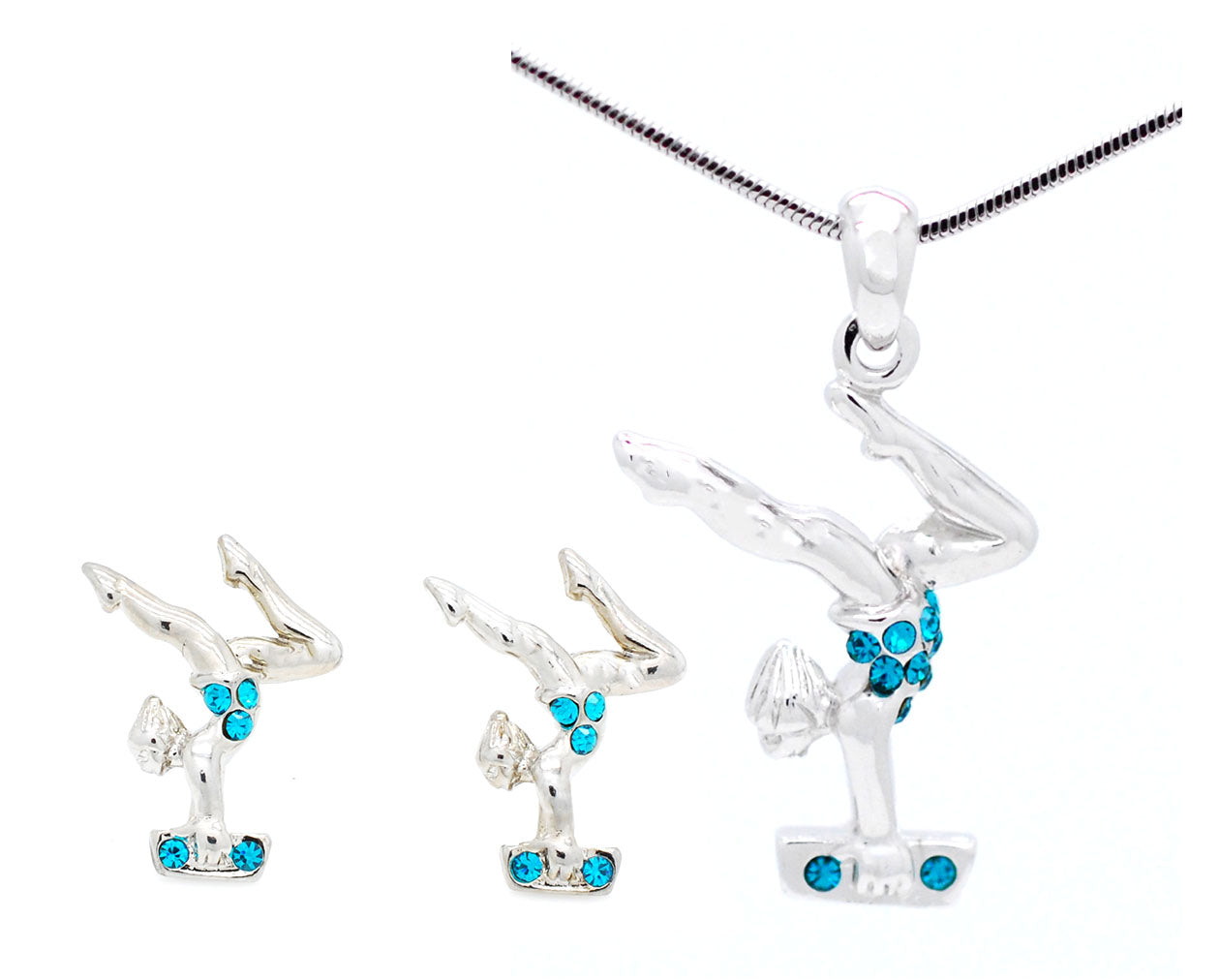 Gymnast Beam Necklace and POST Earring Set