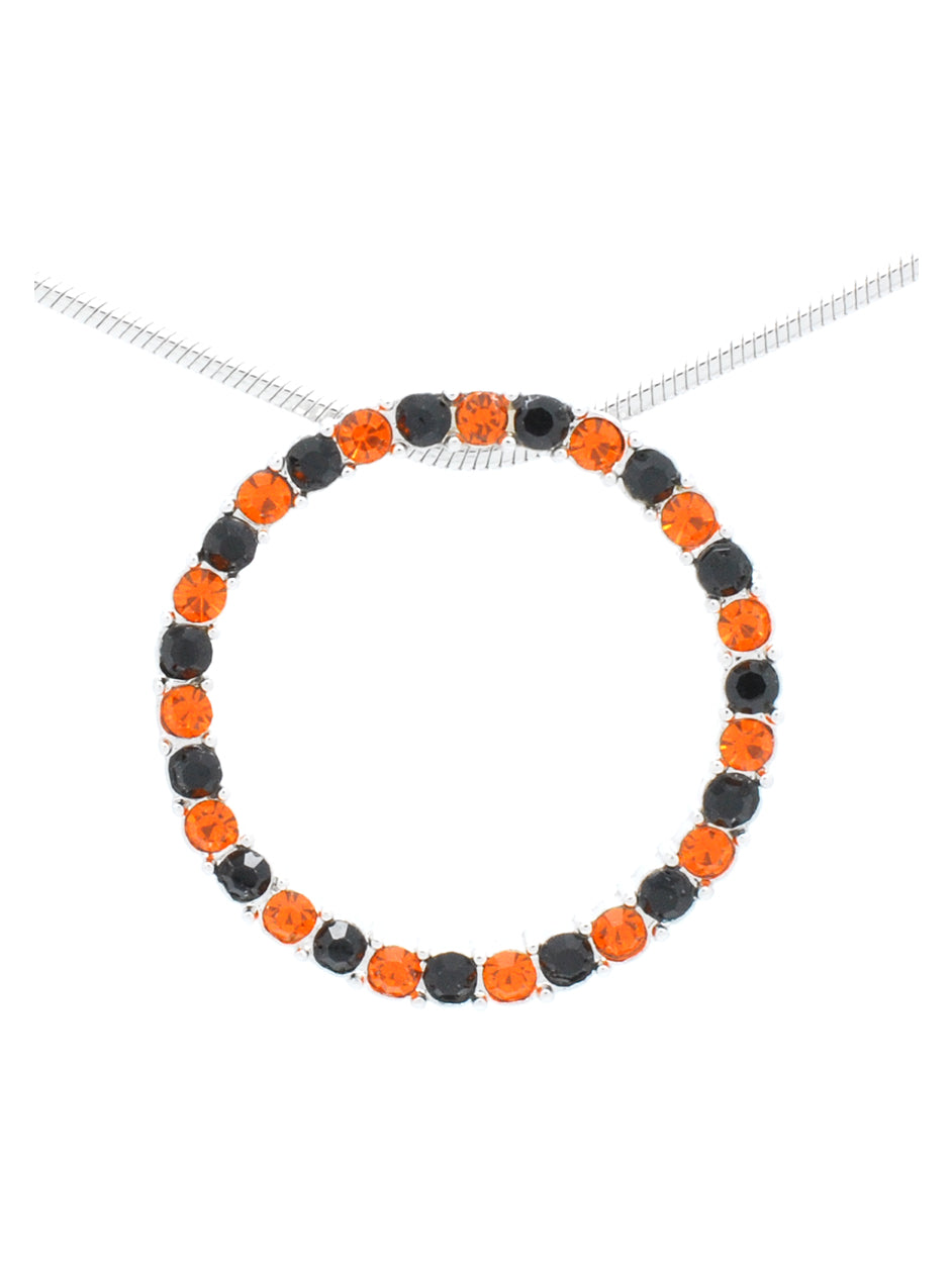 Circle of Life Necklace - Orange/Black