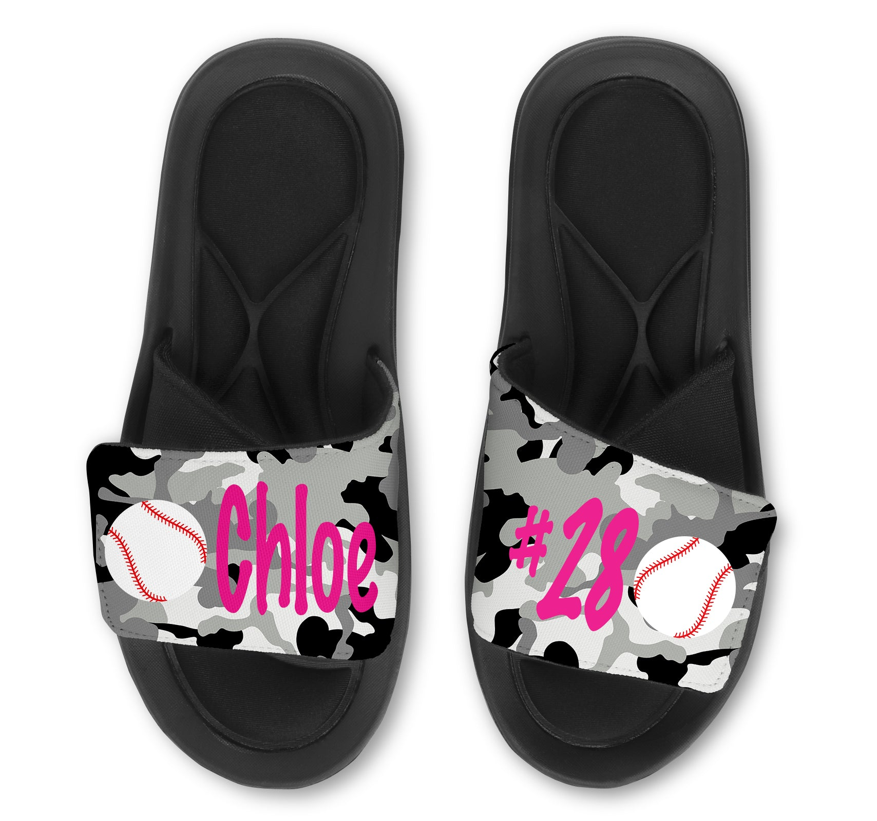 Baseball Custom Slides / Sandals - Camo