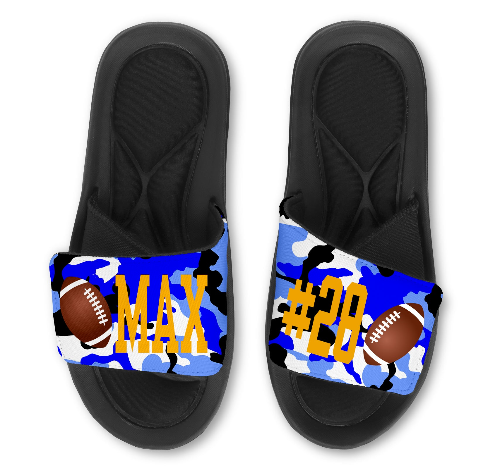 Football Custom Slides / Sandals - Camo